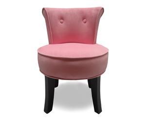 Fauteuil Suzanne, roze/zwart, L 47 cm