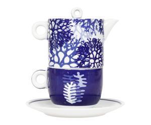 Solitaire porcelaine, bleu et blanc – H17