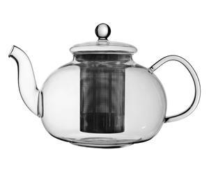 Théière verre, transparent et noir - 1,2L
