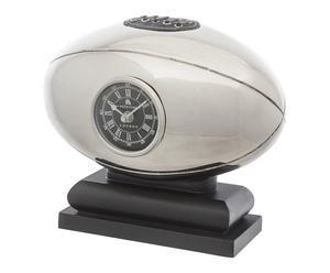 Tafelklok Football, zilver, H 23,5 cm
