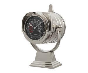 Tafelklok Marine, zilver, H 37,5 cm