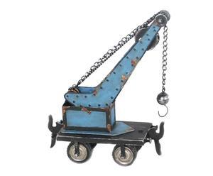 Decoratieve hijskraan Builder, blauw, H 31 cm
