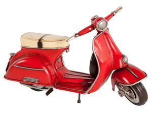 Decoratief object Vespa Scooter, rood, L 21 cm