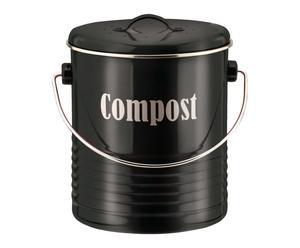 Compostbak Vintano, zwart, H 21 cm