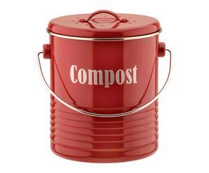 Compostbak Vintano, rood, H 21 cm