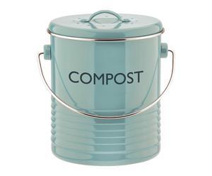Compostbak Elena, blauw, H 21 cm