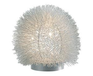 Tafellamp Floris, zilver/wit, H 20 cm