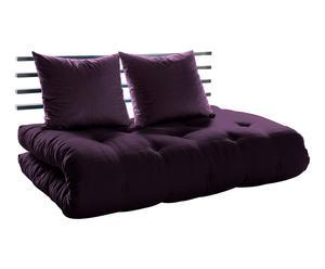 Slaapbank Shin Sano, donkerpaars/zwart, L 140 cm