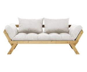 Slaapbank Bebop, naturel/wit, L 180 cm