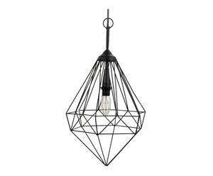 Hanglamp Esther, zwart, H 53 cm