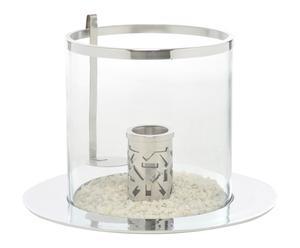 Tafelhaard Ramond, zilver/transparant, diameter 30 cm