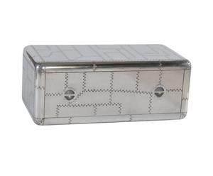 Salontafel van hout met aluminium afwerking Nouf