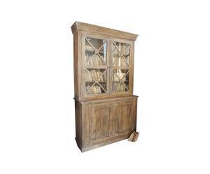 Buffetkast van acaciahout, 4 legplanken en 4 deurtjes Campaigns - 131 x 45 x 220 cm