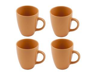 Set di 4 tazze Colors - arancione