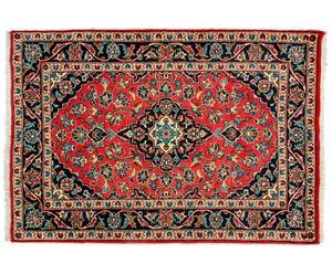 Tapijt Kashan rood - 150 x 100 cm