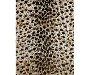 Houten mat met panterprint