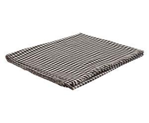 Handgemaakte sjaal Claudine, wit/zwart, 55 x 185 cm