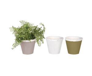 Set van 3 plantenpotten GARDEN- 17 x 16 cm