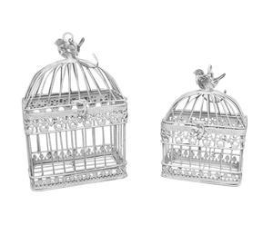 Decoratieve vogelkooitjes Voliere, 2-delig