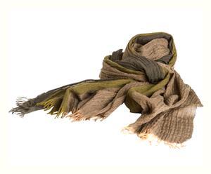 Sjaal Caterina, groen/bruin