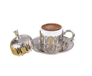 Türkische Kaffeetasse Lale mit Porzellan-Einsatz