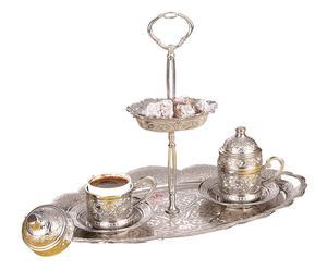 Türkisches Kaffee-Set Levent mit Porzellan-Einsatz, 3-tlg.