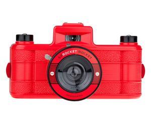 Lomo fotocamera Sprocket Rocket, rood