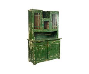 Vintage keuken/-buffetkast Marta van hout, groen - Anno 1910