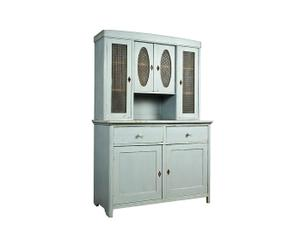 Vintage keuken/-buffetkast Giade van hout, grijs - Anno 1900