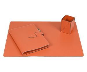Bureauset Dona I, oranje, 3-delig