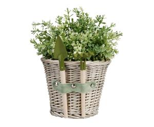 Plantenpot met tuingereedschap Gardener, 17x19x19 cm