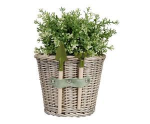 Plantenpot met tuingereedschap Gardener, 20x19x21 cm