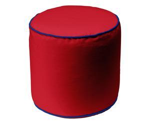 Poef Bicolor, rood/blauw, 47 x 45 cm