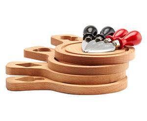 Kaasplank Florentine, hout, 4 stuks