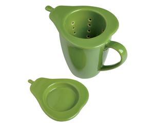 Teetasse Fidelio mit Sieb und Deckel, grün, H 12 cm