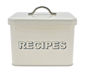 Bewaarblik Recipes, ivoorkleurig, H 17 cm