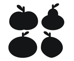 Krijtbordjes Fruit, 20 x 20 cm, 2 stuks