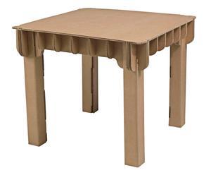 Kindertafel Build up, bruin, 60 X 56 X 60 cm