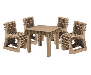 Kindertafel met 5 stoelen Build up