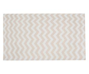 Tapijt Zigzag, beige, 130 x 190 cm