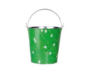 Emmer Piedro, groen/metaal, H 28 cm