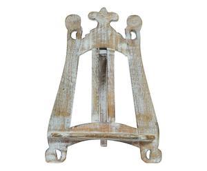 Mini-lessenaar in legno, wit, H 36 cm