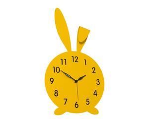 Wandklok Roger, geel, H 47 cm