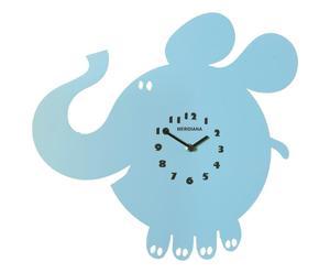 Wandklok Elefante, blauw, H 40 cm