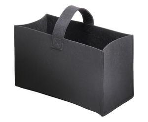 Haardhoutbak Toby, zwart, L 52 cm