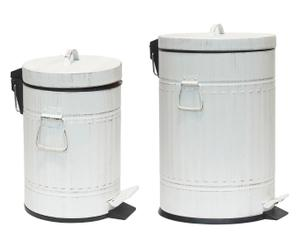 Set van 2 prullenbakken May Marie, wit, H 30 cm