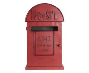 Brievenbus Posta, rood, H 48 cm
