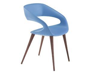 Stoel Shape naturel/blauw, L 59 cm