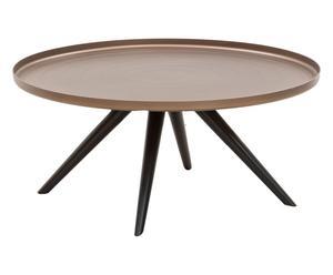 Tafel Outline, mat brons, diameter 70 cm