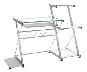 Computertafel Miami, zilver, L 115 cm